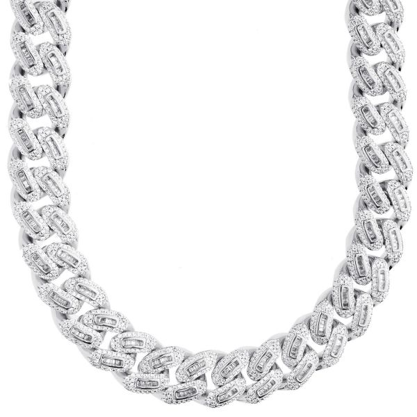 Iced Out Bling Zirconia Chain - Miami Cuban 12mm