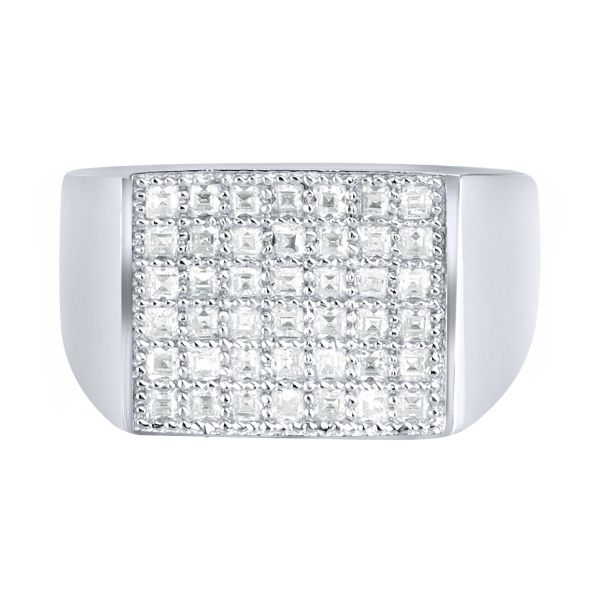 Sterling 925er Silber Pave Ring - FLAT