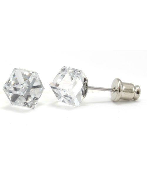 Bling Ohrstecker mit Swarovski Crystals - clear 4mm