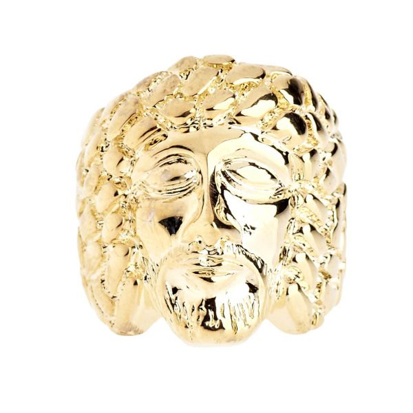 Iced Out Bling Hip Hop Designer Ring - NUGGET JESUS gold