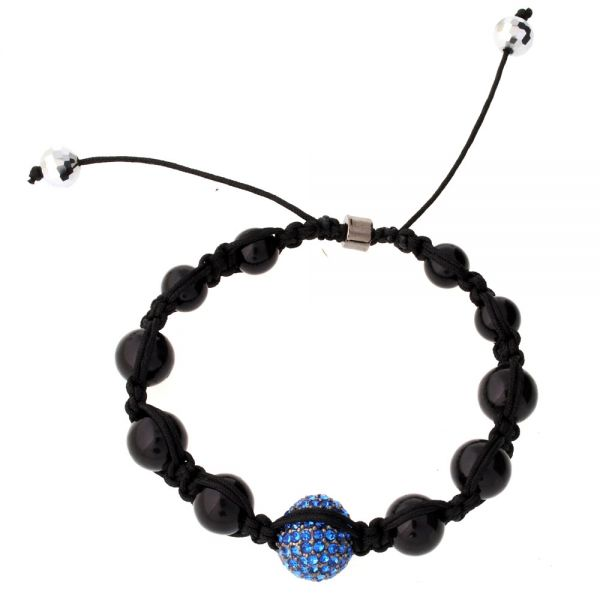 Iced Out Unisex Armband - Disco Ball ONE blau