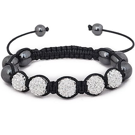 Iced Out Unisex Armband - Disco Ball FIVE schwarz