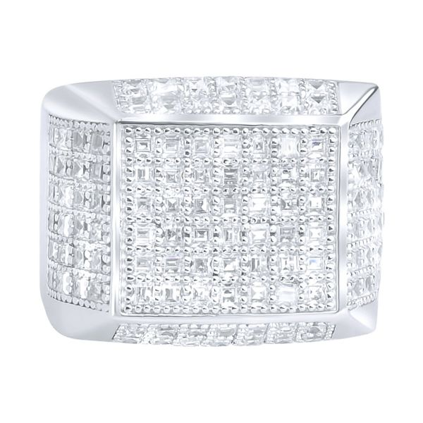 Sterling 925 Silver Pave Ring - ARTS