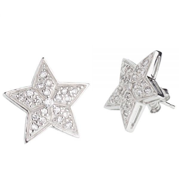 Sterling 925er Silber Ohrstecker - STAR 19mm