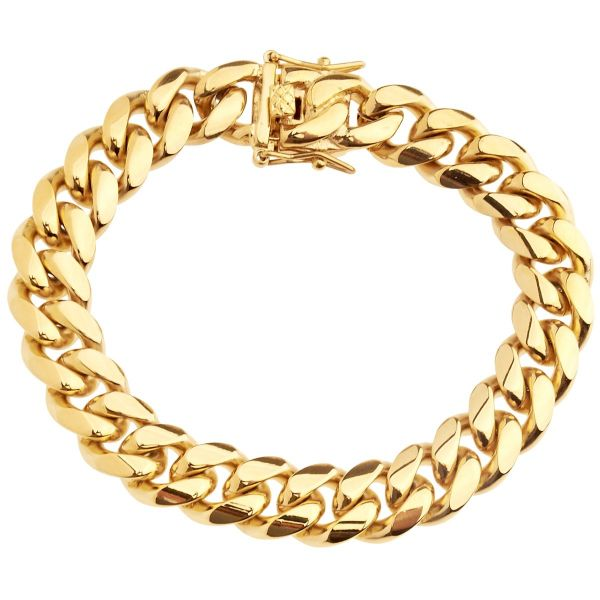 Iced Out Bling Stainless Steel Bracelet - Miami Cuban 12mm