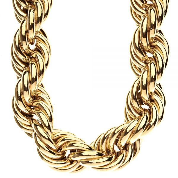 Heavy Rope DMC Style Hip Hop Kordelkette - 30mm gold
