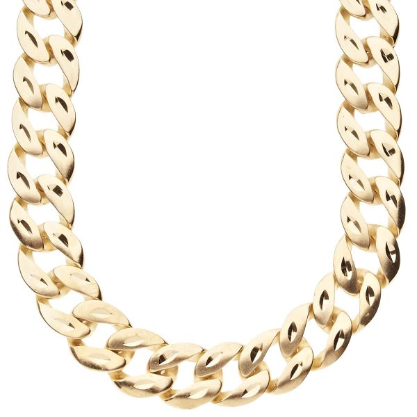 Hip Hop Bling CUBAN Panzerkette - DIAMONT CUT 15mm gold