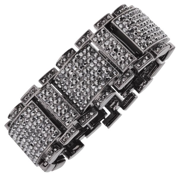 Iced Out Bling Hip Hop Bracelet Armband - RICK ROSS schwarz