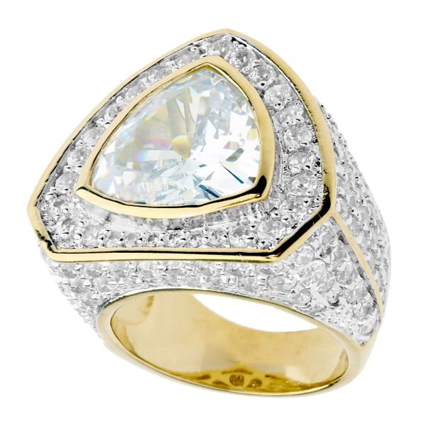 Iced Out Bling Micro Pave Ring - TRILLION Zirconia