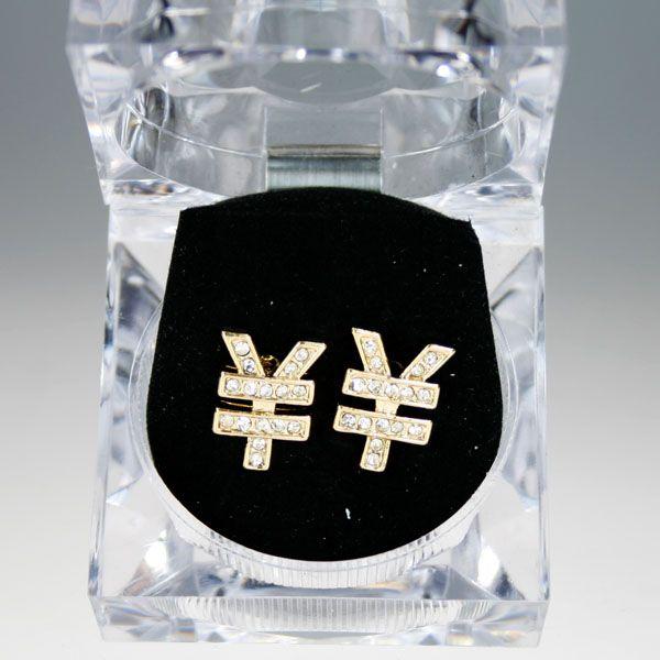 Iced Out Bling Hip Hop Ohrstecker Box - YEN gold