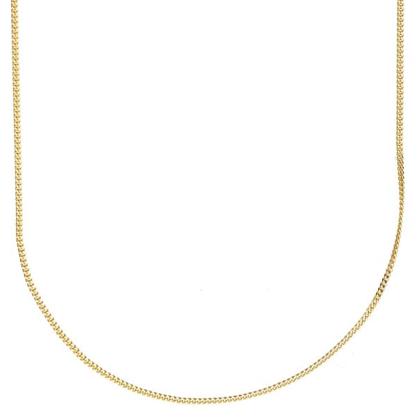 925 Sterling Silver Bling Chain - CURB 1mm gold