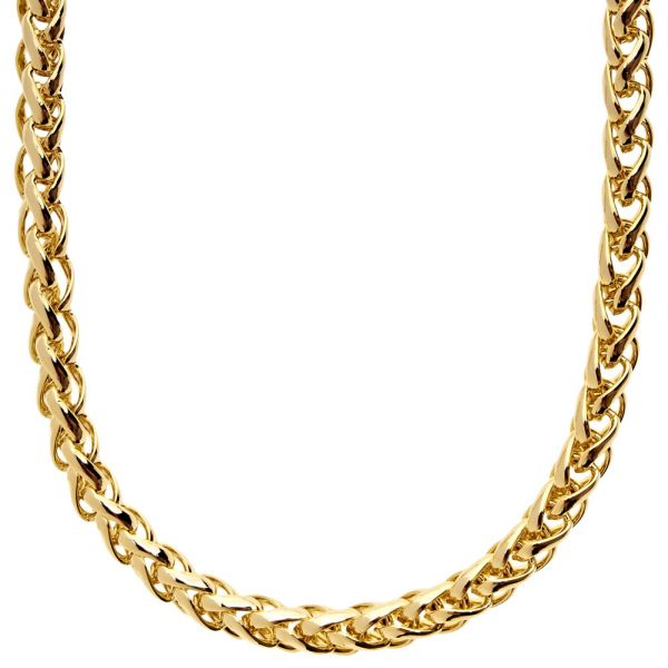 Iced Out Bling BASKET CHAIN - 6.5mm gold