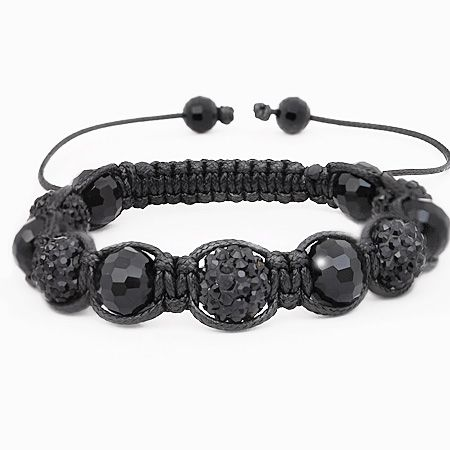 Iced Out Unisex Armband - Disco Ball FOUR black