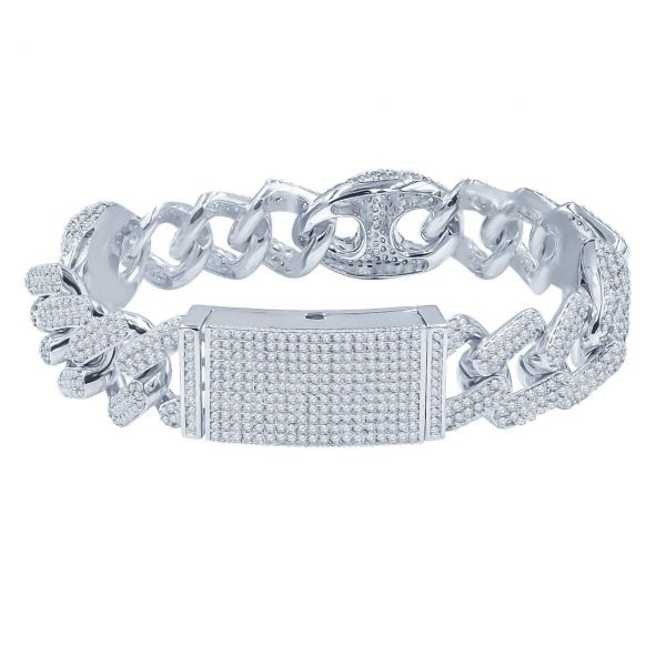 Iced Out Bling MIAMI CUBAN Panzerkette Armband - MODISH 18mm