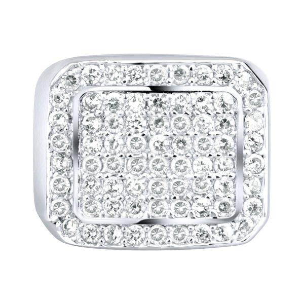 Sterling 925er Silber Pave Ring - BLING