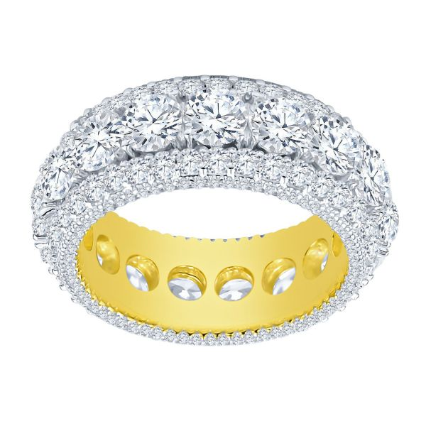 Sterling 925er Silber Micro Pave Ring - SPECTR gold