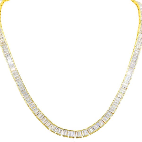 Iced Out Zirconia Tennis Chain - GLAMOROUS SQUARE 6mm gold