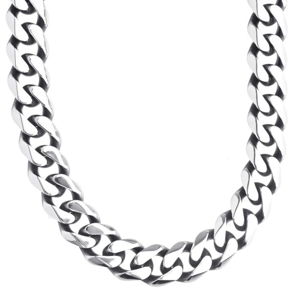 Iced Out Stainless Steel Cuban Chain 13mm