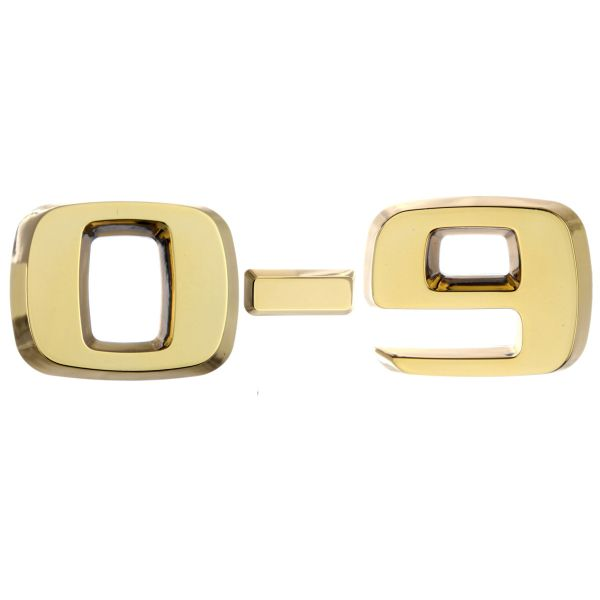 Luxbling Car Chrome 3D Number - gold