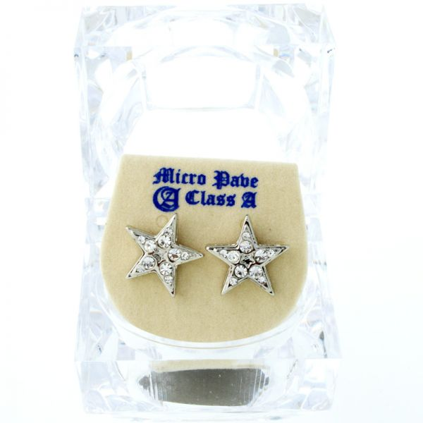 Iced Out Bling Ohrstecker Box - STAR