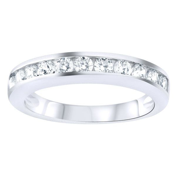 Sterling 925er Silber Pave Ring - CZ BAND