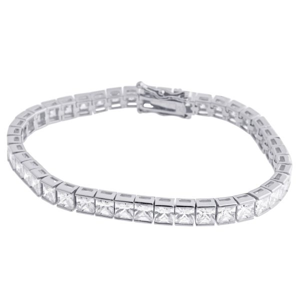 Sterling 925er Silber Tennis Armband 5mm