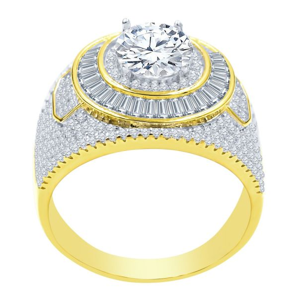 Sterling 925er Silber Micro Pave Ring - CONVEX gold