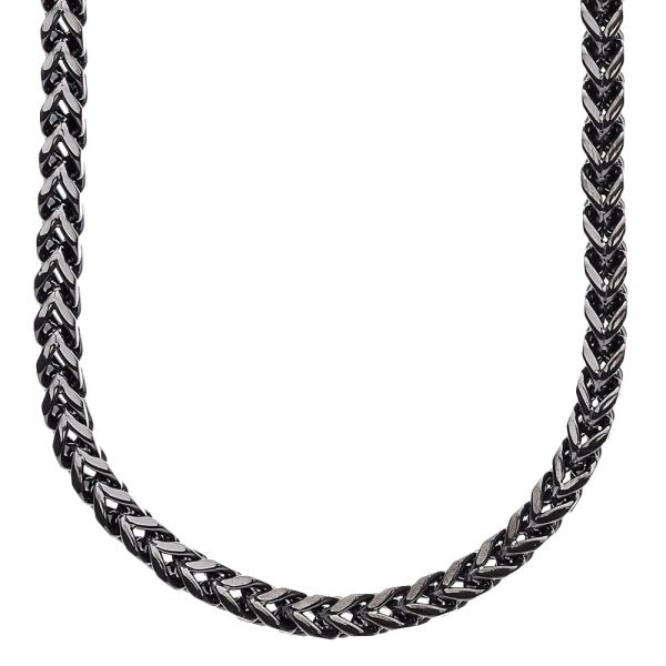 Iced Out Stainless Steel BOXED Chain - 4mm black