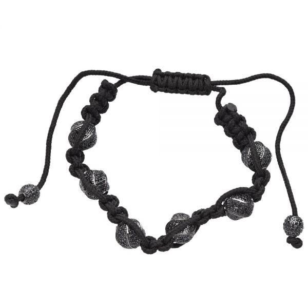 Micro Pave Beads Armband - LUX schwarz