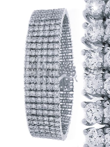 Iced Out Bling High Quality Armband - 6 SILVER