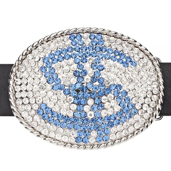 Iced Out Bling Hip Hop BLUE DOLLAR Gürtel