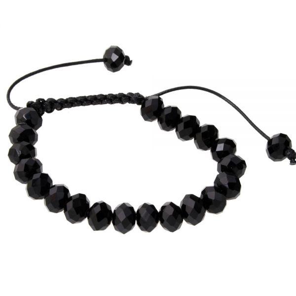 Unisex Bling Armband - ONYX schwarz