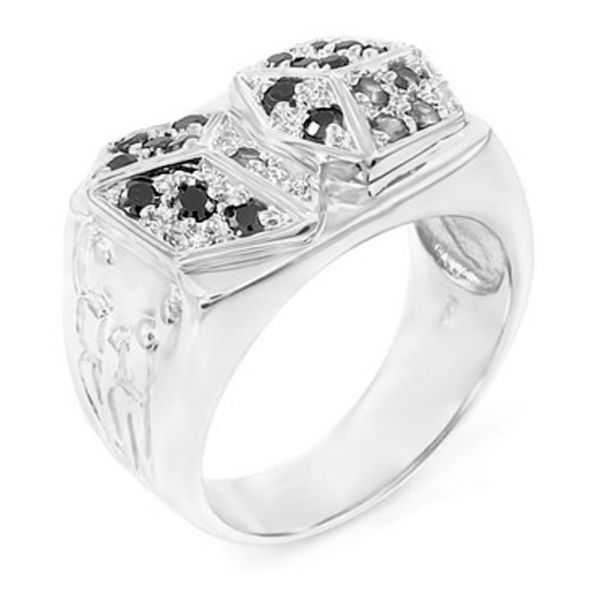 Sterling 925er Silber Pave Ring - DICES