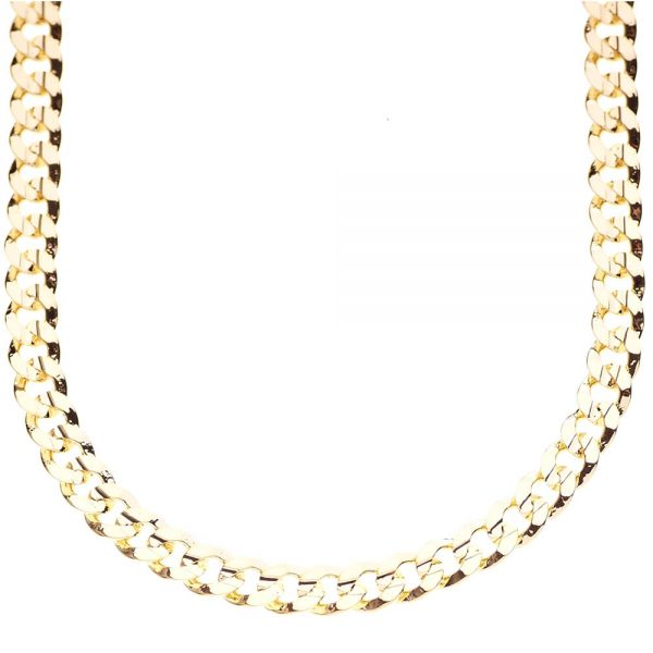 Iced Out Bling Hip Hop CUBAN CURB CHAIN - 6mm gold