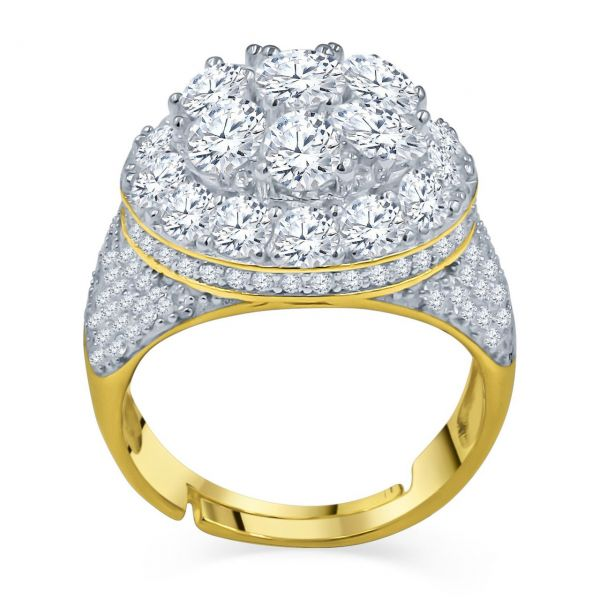 Sterling 925er Silber Micro Pave Ring - ANGELIC