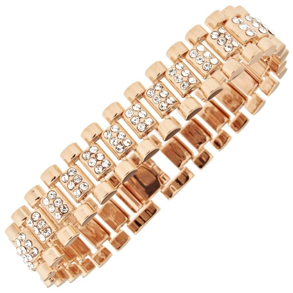 Iced Out Hip Hop Bling Armband - CZ LINK 15mm rose gold
