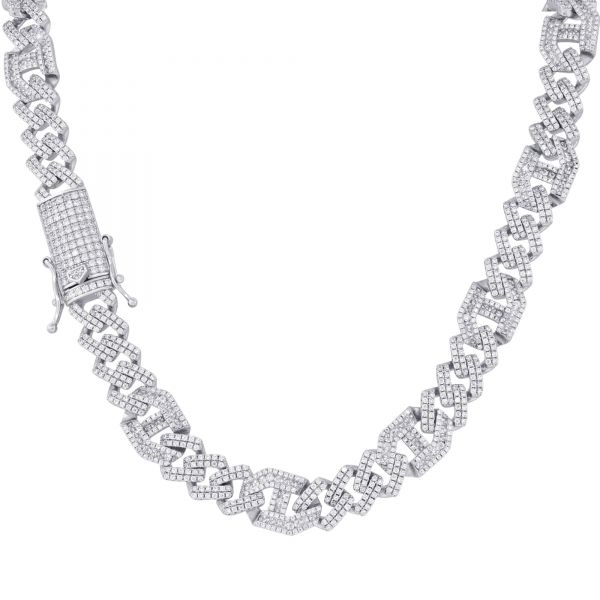 Premium Bling Sterling 925 Silver CZ Chain - CUBAN 10mm