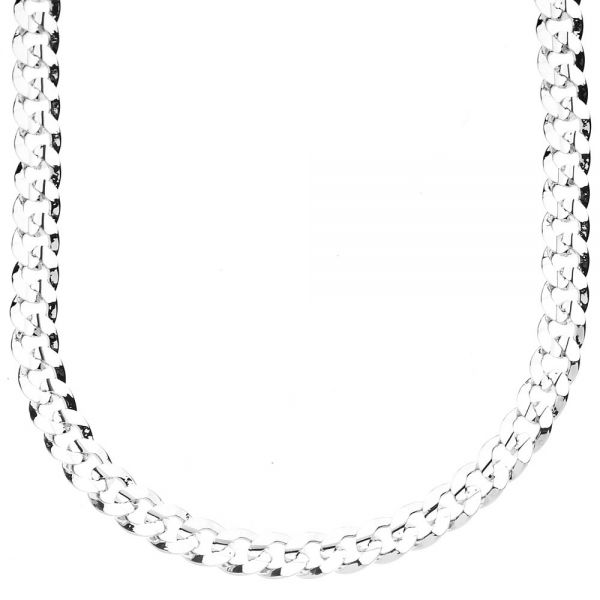 Iced Out Bling Hip Hop CUBAN CURB CHAIN - 6mm siver