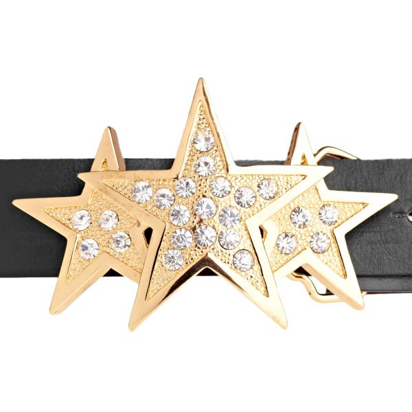 Iced Out Bling Gürtel - TRIPLE STAR gold