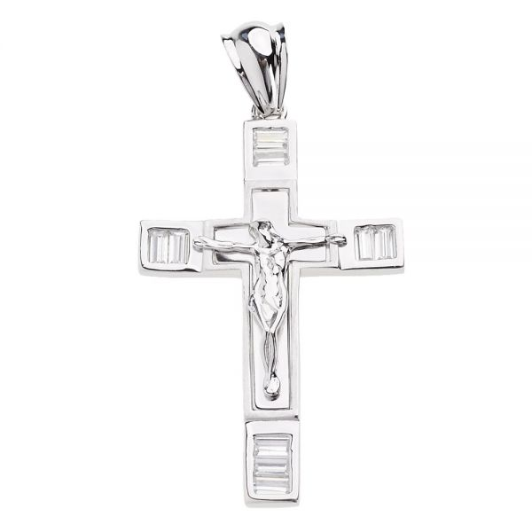 925 Iced Out Sterling Silber Kreuz - BLISS