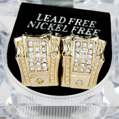Iced Out Bling Ohrstecker Box - DON gold
