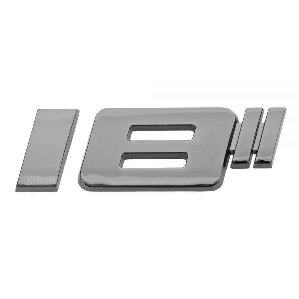 Luxbling Car Chome Rims Inches 3D Emblem - black