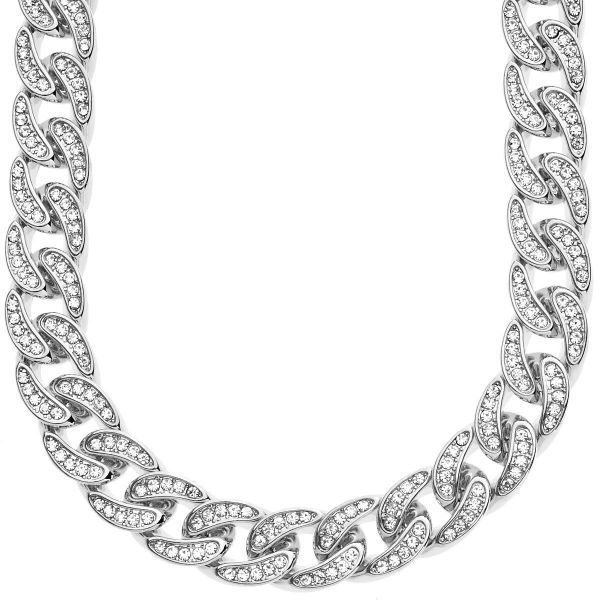 Iced Out Hip Hop Bling CZ Panzerkette - 12mm silber