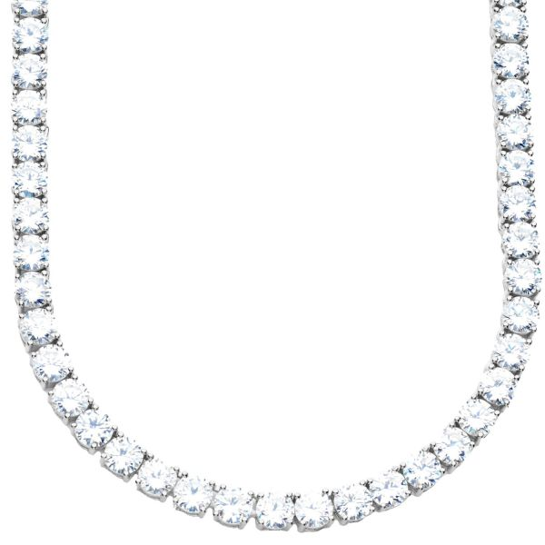Premium Bling - Sterling 925 Silver CZ Necklace - 5mm - 65cm