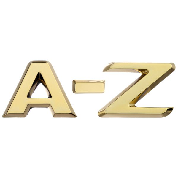 Luxbling Auto Chrom 3D Buchstabe - gold A-Z