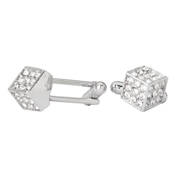 Iced Out Hip Hip Cuff Links - Dice Bling