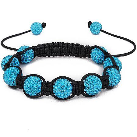 Iced Out Unisex Bracelet - Beads aqua bling