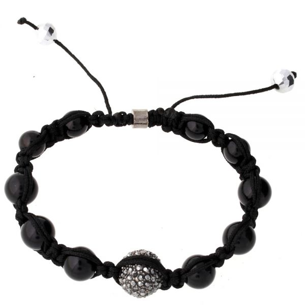 Iced Out Unisex Armband - Disco Ball ONE schwarz