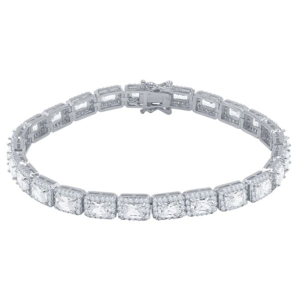 Iced Out Bling SQUARE TENNIS Armband - 6mm