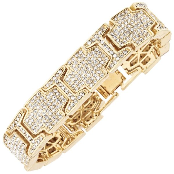 Iced Out Bling Hip Hop Diamond Bracelet - ICE LINK gold